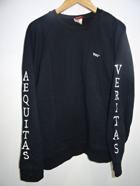 """WTAPS ダブルタップス 17aw """"V=A CREW SWEAT"""" [BLK] Size-M"""