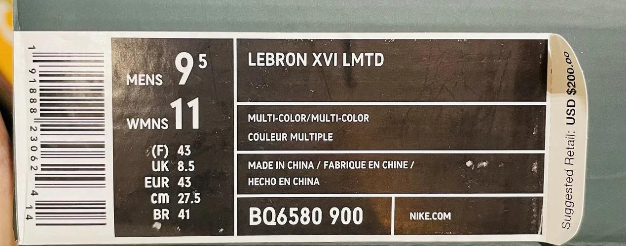 NIKE 18aw LEBRON 16 LMTD WHAT THE BQ6580-900 27cm ナイキ レブロン ワットザ 南堀江