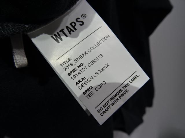 """WTAPS ダブルタップス19ss """"DESIGN LS Xerox TEE COPO"""" Size-4 191ATDT-CSM01S デザイン T-SHIRT tシャツ ブランド古着【中古】"""