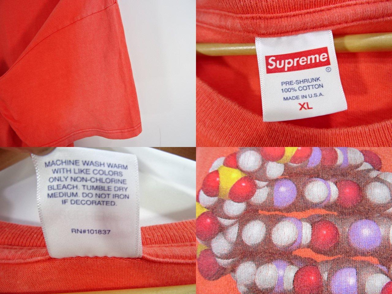 SUPREME 17aw DNA TEE シュプリーム 遺伝子 Tシャツ ORANGE オレンジ USA製 大名店【中古】
