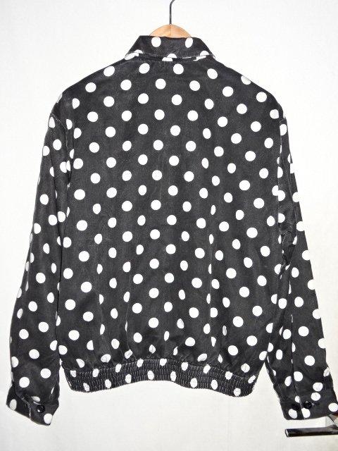 "SUPREME シュプリーム18ss ""Polka Dots Rayon Work Jacket"" Size-S ポルカ ドット レーヨン ワーク ジャッケトブランド古着【中古】"