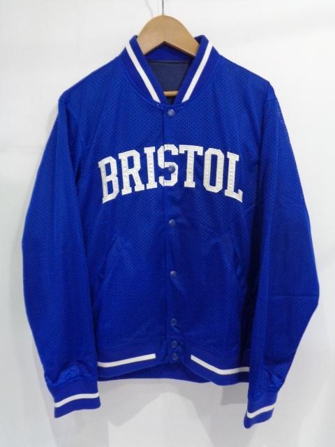 "F.C.REAL BRISTOL F.C.R.B ブリストル 15ss ""MESH STADIUM BLOUSON"" Size-S FCRB-150009 メッシュ スタジアム ブルゾン ジャケット ロゴ BLUE ブルー"
