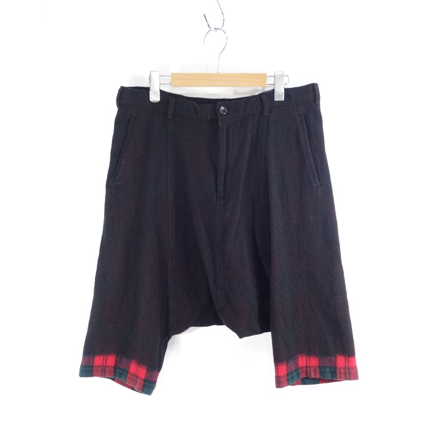 COMME des GARCONS BLACK Wool Plaid Sarrouel Pants ギャルソン サルエル パンツ 大名店【中古】