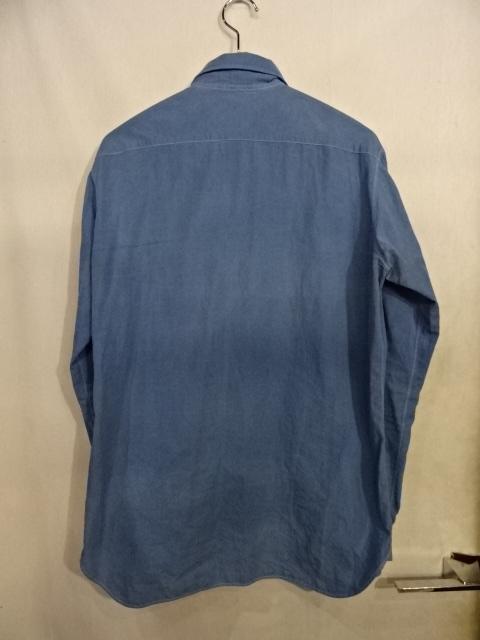THE CROOKED TAILOR ザ クルーキット テーラー L/S 7B.1ポケットコットンシャツ Size-48 大名