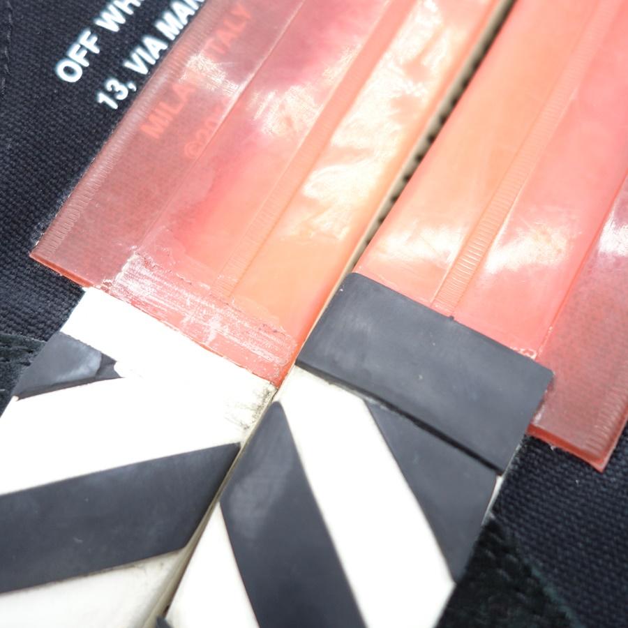 OFF-WHITE 19aw LOW VULCANAIZED SNEAKER オフホワイト バルカナイズド スウェード スニーカー 大名店 【中古】