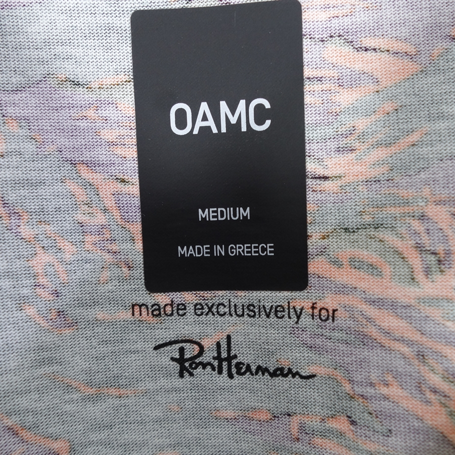 OAMC RON HERMAN TIGER CAMO TEE ロンハーマン タイガーカモ Tシャツ 大名店【中古】
