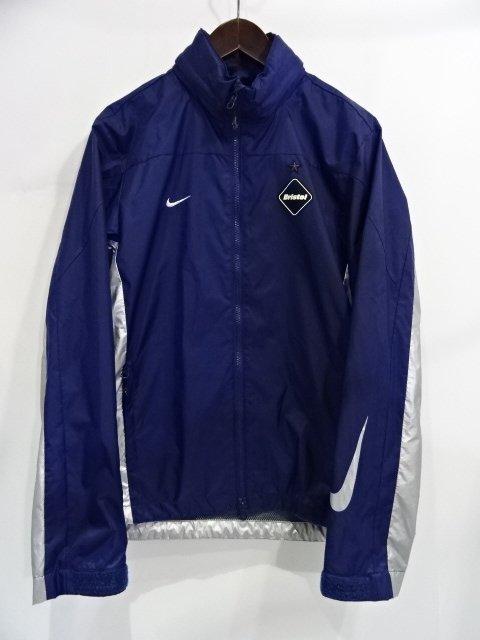 "F.C.REAL BRISTOL FCRB エフシーレアルブリストル13aw ""Warm Up Jacket"" Size-S 615018-477 ネイビー シルバー メタリック ジャケット ウォームアップ 大名"