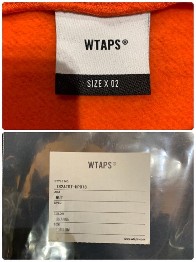 WTAPS WUT HOODIE Mサイズ ダブルタップス フーディーパーカー オレンジ 南堀江