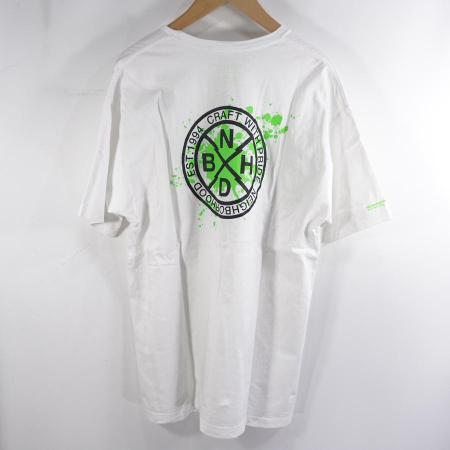 NEIGHBORHOOD 20ss REIGN/C-TEE.SS ネイバーフッド ロゴ プリント スプラッシュ Tシャツ 大名店【中古】