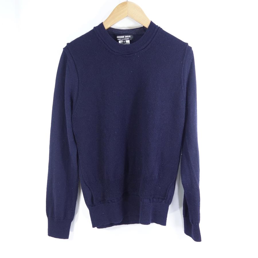 COMME DES GARCONS HOMME DEUX 19aw Inset Crewneck Wool Knit ギャルソン ニット大名店【中古】