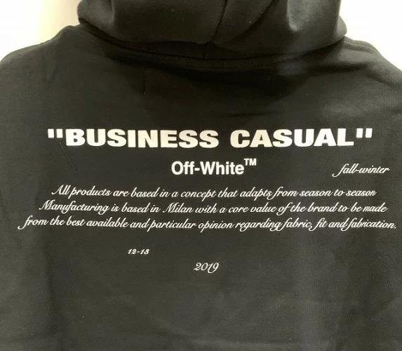 OFF-WHITE 18aw DIAG BERNINI OVER HOODIE オフホワイト ダイヤゴナル ベルニーニオーバーフーディー スウェットパーカー ブラック 心斎橋