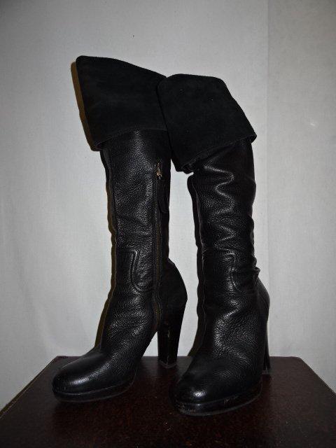 MIU MIU ミュウミュウLeather Knee High Boots Size-36 レザー ニーハイブーツブランド古着【中古】