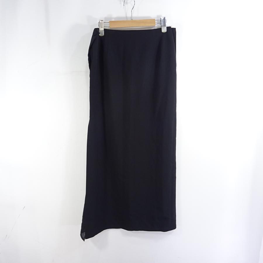 YOHJI YAMAMOTO NOIR Wool Long Skirt ヨウジヤマモト ノア ウール ロング スカート Size-3 大名店【中古】
