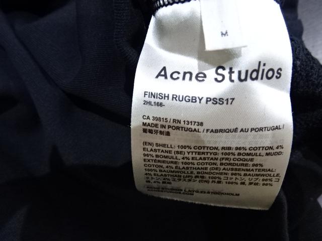 "ACNE STUDIOS アクネ ストゥディオズ17ss ""FINISH RUGBY"" Size-M スウェット"