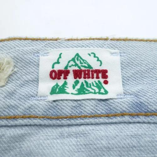 OFF-WHITE CRUSH WASHED DENIM PANTS オフホワイト クラッシュ デニム パンツ ジーンズ 心斎橋