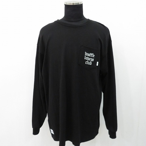 WTAPS VANS 20aw Waffle LOVERS CLUB L/S Tee ダブルタップス クロスボーン  ポケット ロンT Tシャツ 柳丸店【中古】