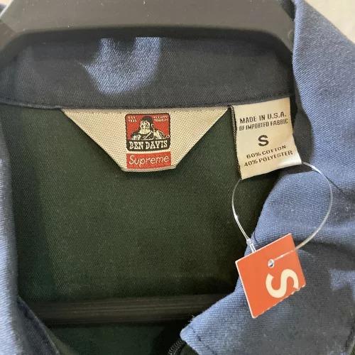 Supreme×Ben Davis Half Zip Work Shirt Sサイズ シュプリーム ベンデイビス ベンデイヴィス ハーフジップワーク 半袖シャツ グリーン/ネイビー 2019秋冬新作 19fw week3 南堀江