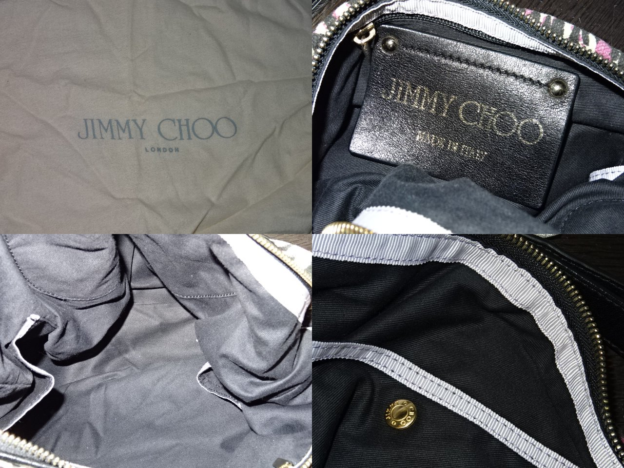 JIMMY CHOO ジミーチュウ  レオパード柄 キャンバスワンショルダーハンドバッグ ジミーチュウ