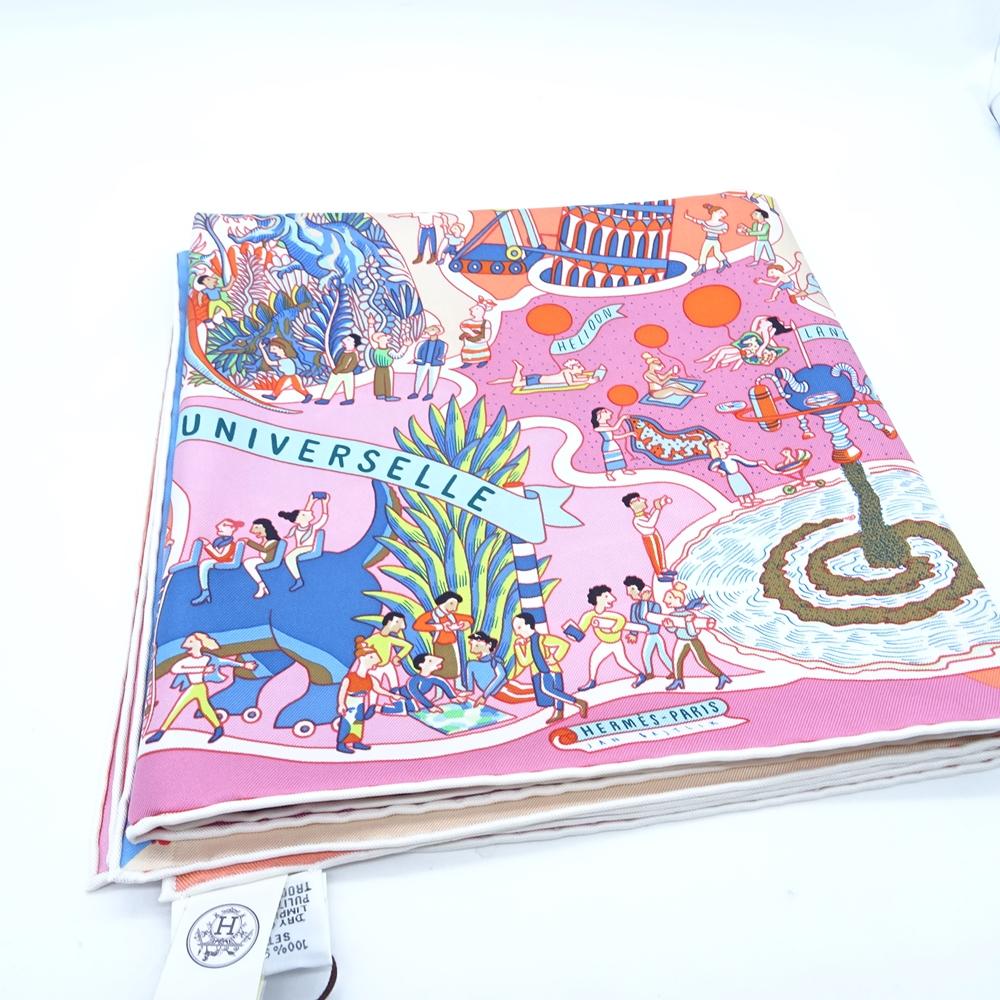 HERMES 003536S 02 総柄 シルク スカーフ エルメス 大名店【中古】