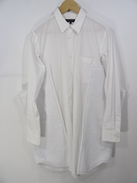 COMME DES GARCONS PLUS 18aw フリース切替 コットンシャツ サイズXS コムデ ギャルソン 大名店【中古】