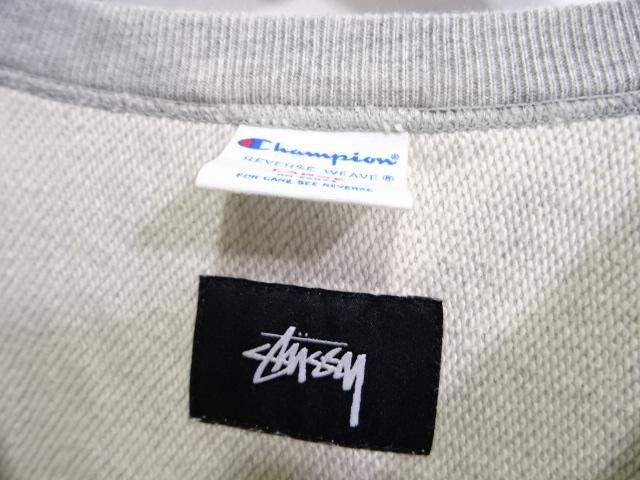 STUSSY CHAMPION REVERSE WEAVE SWEAT size-L ステューシー チャンピオン スウェット 大名店【中古】