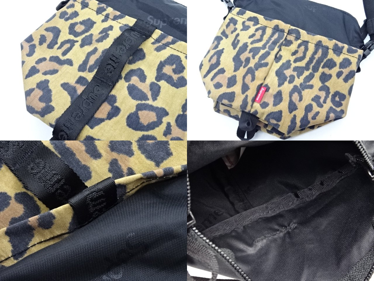 Supreme 20aw NECK POUCH LEOPARD ポーチ ショルダーバッグ レオパード ヒョウ柄 大名店【中古】