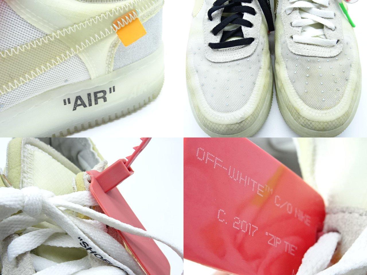 OFF-WHITE THE10 NIKE AIR FORCE1 LOW 26.0cm AO4606-100 オフホワイト ナイキ 大名店【中古】