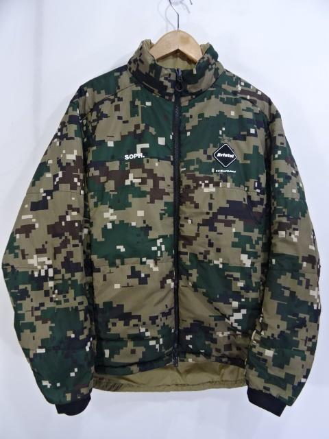 F.C.REAL BRISTOL Reversible Camouflage Padded Blouson FCRB-192027 大名店【中古】