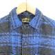 WTAPS UNION L/S SHIRT FLANNEL BLUE ダブルタップス ユニオン シャツ フランネル ブルー 長袖 大名店【中古】