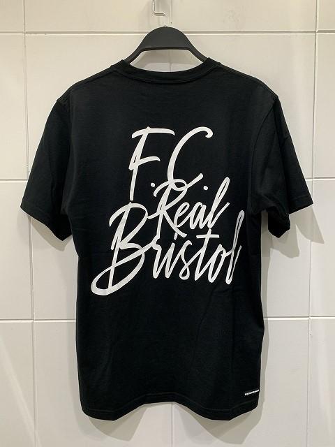 F.C.REAL BRISTOL 19aw TAGGING TEE Sサイズエフシーレアルブリストル タギングロゴ半袖Tシャツ ブラック心斎橋