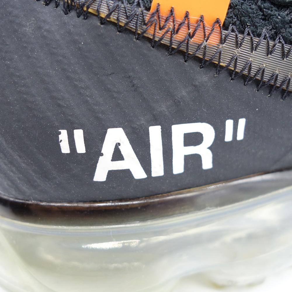 OFF-WHITE 18ss THE:10 NIKE AIR VAPOR エアヴェイパー スニーカー オフホワイト ナイキ 大名店【中古】