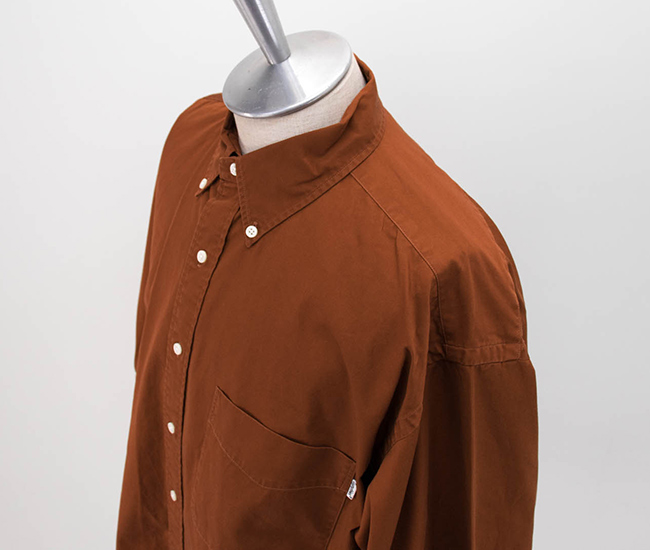 Gymphlex ジムフレックス メンズ ツイルバイオウォッシュ ボタンダウンシャツ[J-1465VTW]【2020FW】