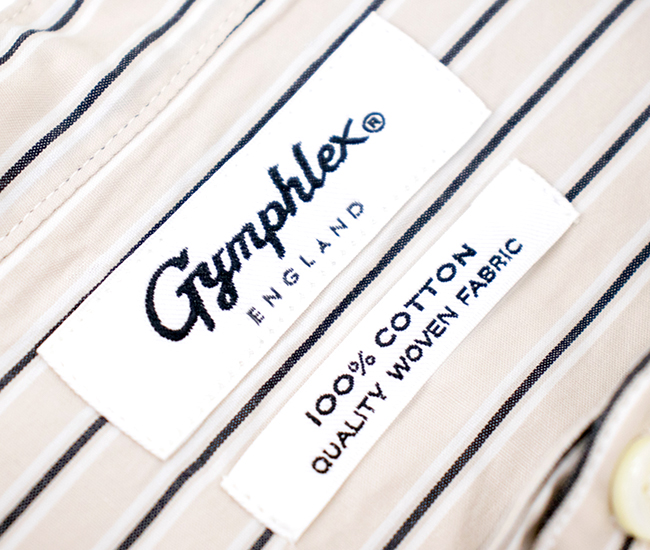 Gymphlex ジムフレックス メンズ ストライプ バンドカラーシャツ[J-1352MUL]【2021FW】