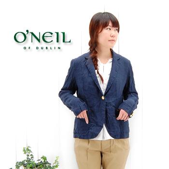 【OUTLET】O'NEIL OF DUBLIN オネイル/オニールオブダブリン レディース リネンテーラードジャケット(1100P)【返品交換不可】