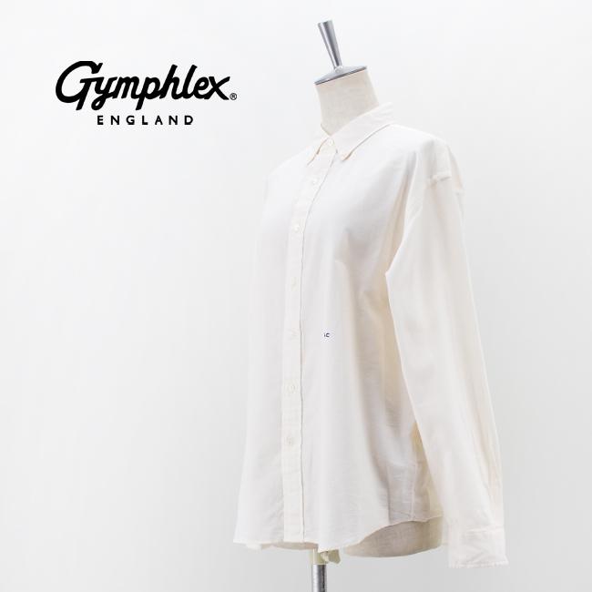 Gymphlex ジムフレックス レディース ワイド ボタンダウンシャツ[GY-B0004LOX]【2021FW】