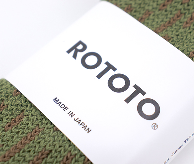 ROTOTO ロトト RAIN DROP CREW SOCKS[R1324]【2021FW】