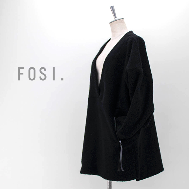 【SALE 50%OFF】FOSI. フォーシ レディース ブークレVネックプルオーバー[F3116]【2020FW】【返品交換不可】
