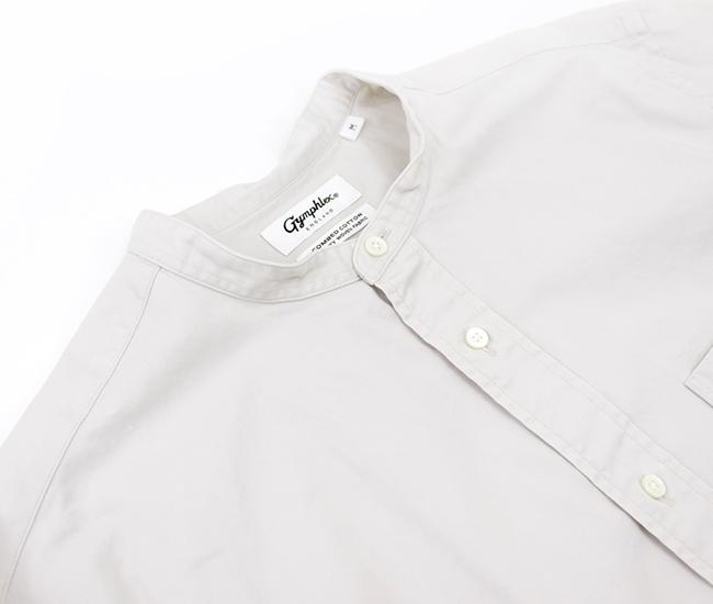 Gymphlex ジムフレックス メンズ バンドカラーシャツ[J-1352BIT]【2021FW】