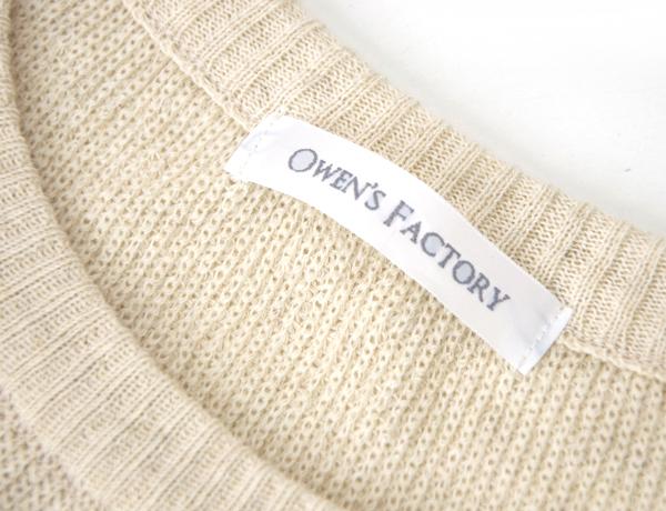 【SALE 40%OFF】OWEN'S FACTORY オーウェンズファクトリー メンズ コットンリネン ニットプルオーバー[OF-162004]【SS】【返品交換不可】
