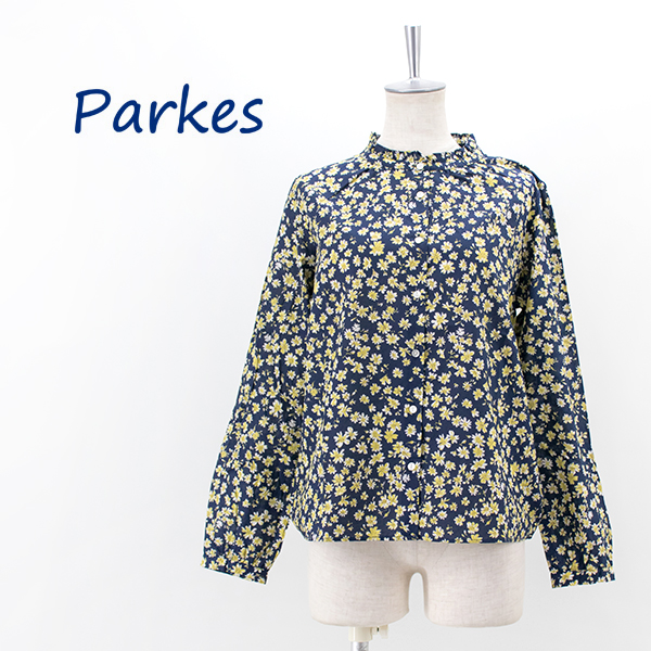 Parkes パークス レディース フラワープリント フリルカラー ブラウス[PN2132008]【2021FW】