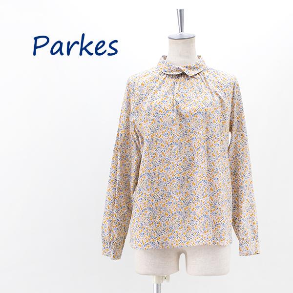 Parkes パークス レディース リバティ 後ろボタン ラウンドカラーブラウス[PN2131040]【2021FW】