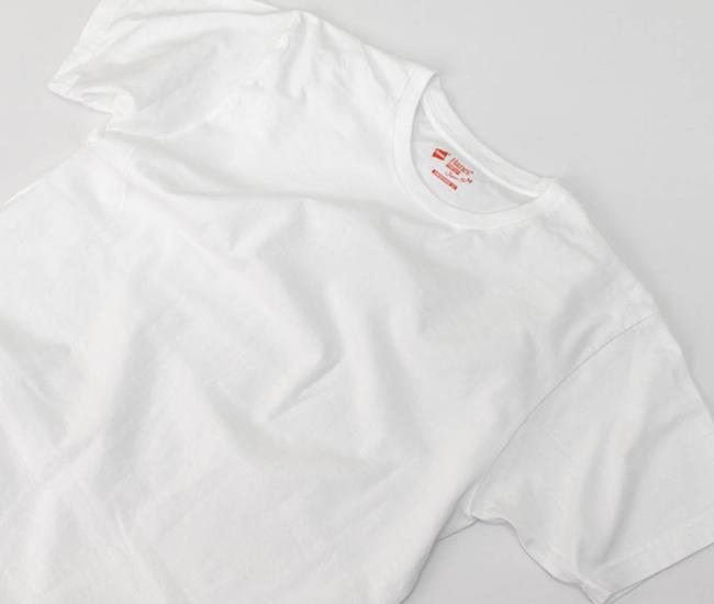 Hanes ヘインズ メンズ ジャパンフィット 2枚組 クルーネックTシャツ ホワイト[H5310]【2020SS】