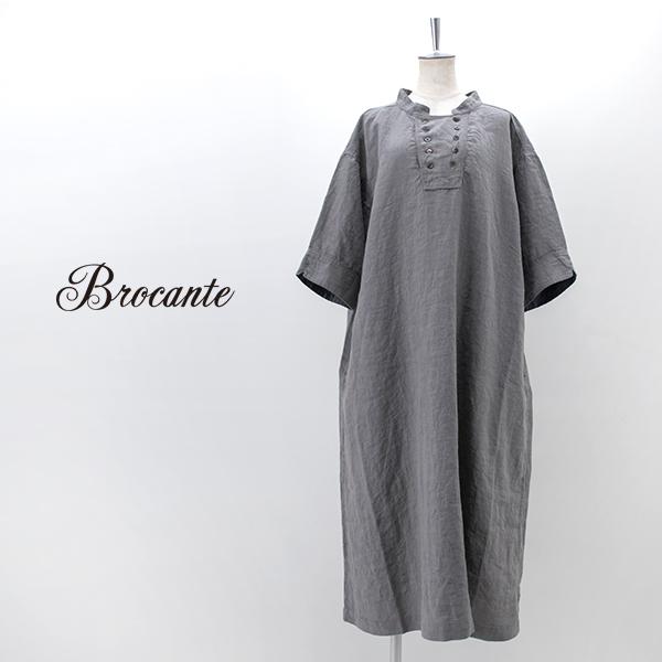 Brocante ブロカント レディース リネンワイドワンピース[37-0220L]【2021SS】