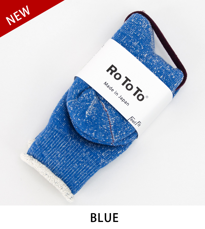 RoToTo ロトト DOUBLE FACE SOCKS[R1001]【BASIC】