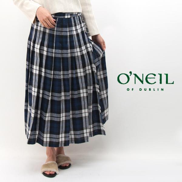 O'NEIL OF DUBLIN オネイル/オニールオブダブリン レディース ローウエスト プリーツラップスカート[NOD0901]【BASIC】