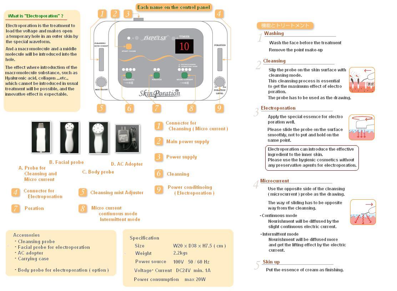 業務用エレクトロポレーション複合美容器 ディープインパルス ホワイト