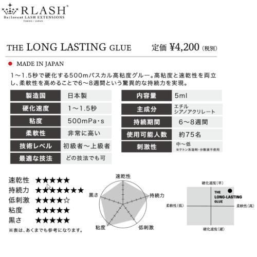 LONG LASTING GLUE 5ml 超高持続 速乾 RLASH