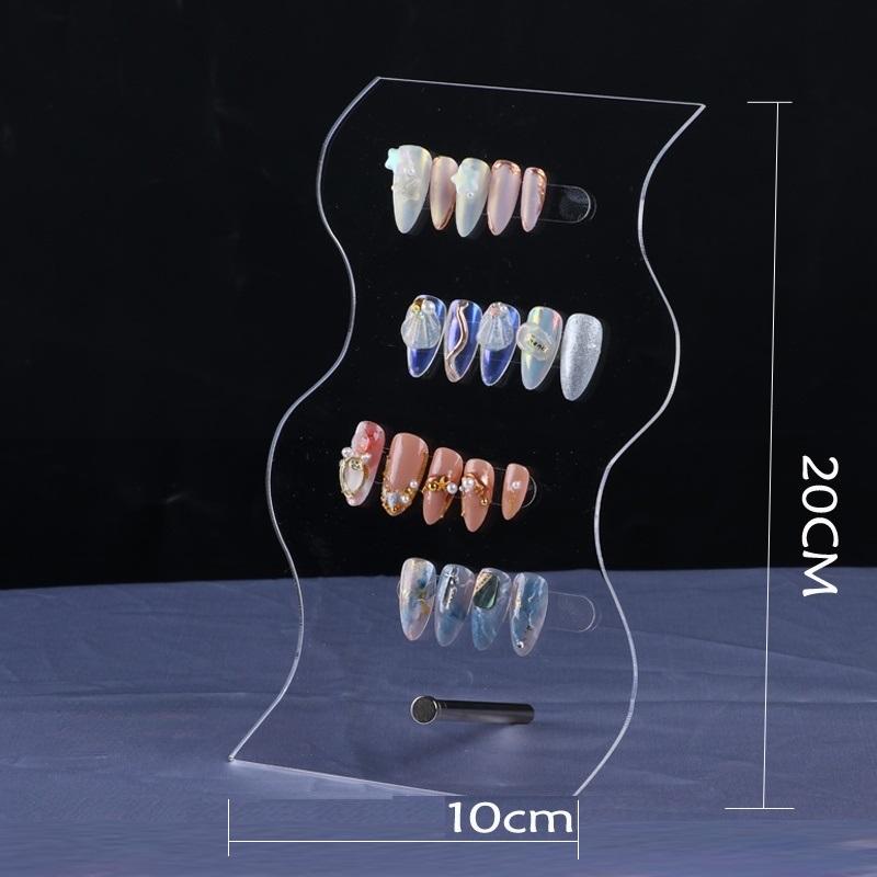 ネイル ファッション 新型高透展示プレート 不規則  異形 アクリル チップディスプレイ