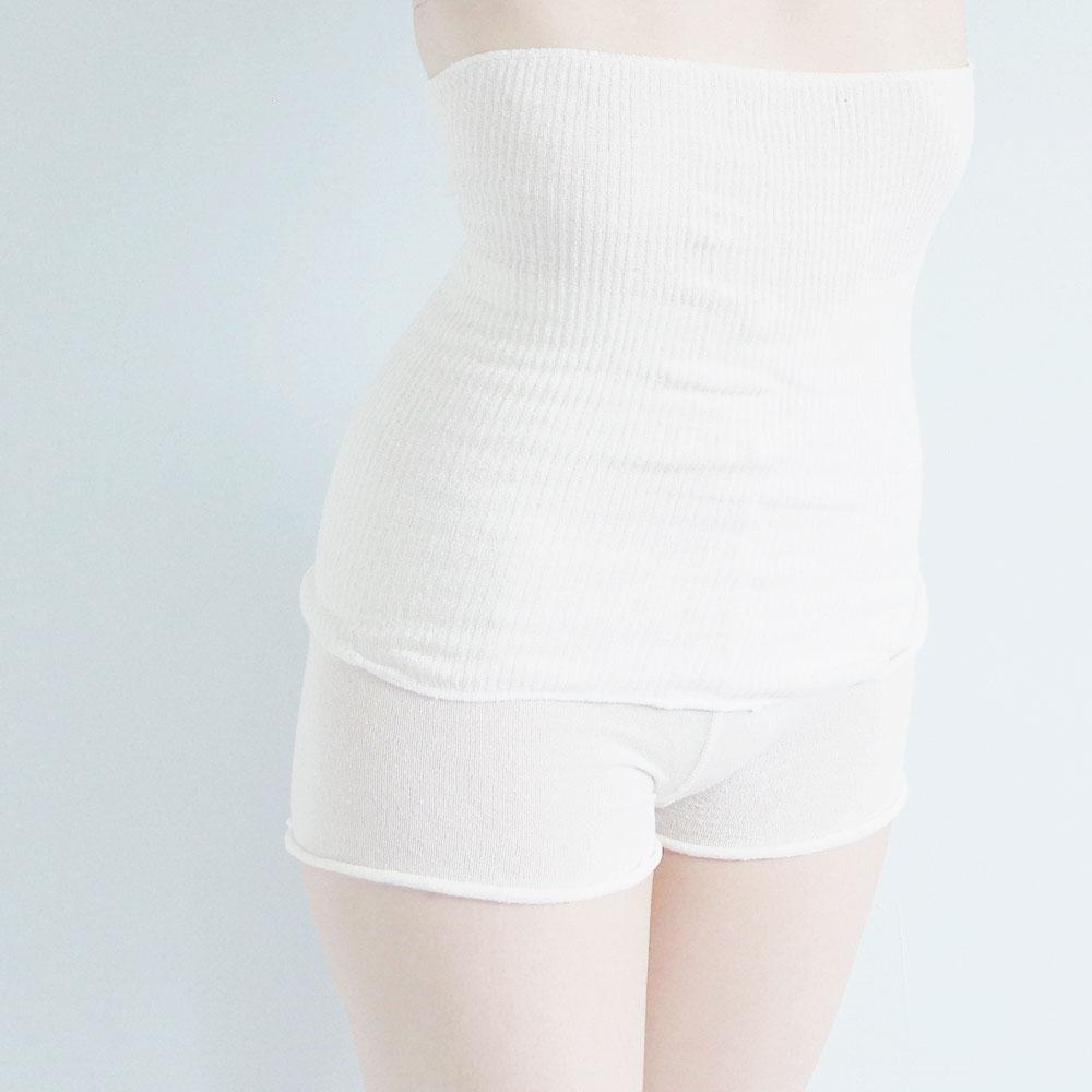 美脚なでしこ 肌心地シルク腹巻 BN017WHT-F