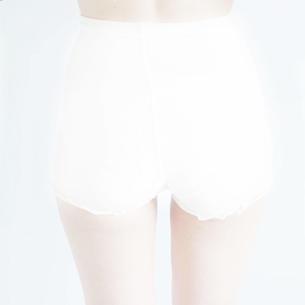 美脚なでしこ 粉雪シルク一分丈スパッツ BN016